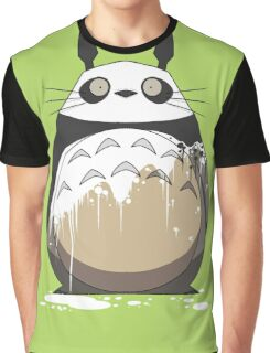 Totoro Painting Panda Graphic T-Shirt
