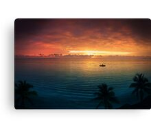 Cancun Sunrise Canvas Print
