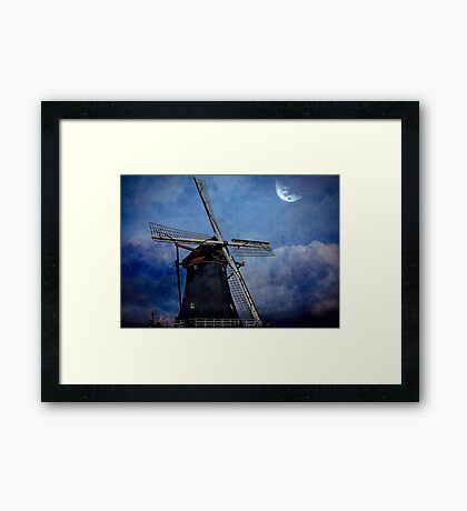 There is Something about Windmills..... Framed Print