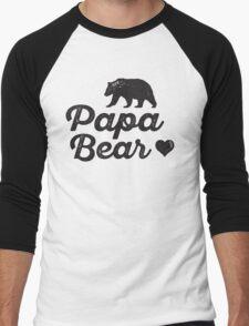 Papa Bear Men's Baseball ¾ T-Shirt