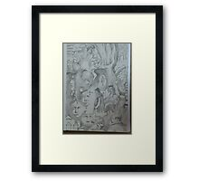 HIS TRIAL. Framed Print