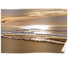Sun Softly Setting On The Tides Poster