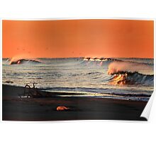 Fiery Waves Poster