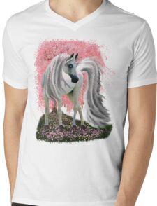 Sakura Horse Mens V-Neck T-Shirt