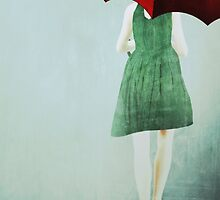 Red Umbrella Girl by nealcampbell