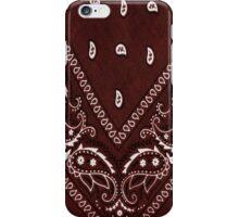 Brown Bandana 1 iPhone Case/Skin