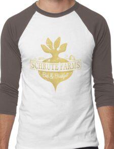 Schrute Farms B&B (no circles) Men's Baseball ¾ T-Shirt