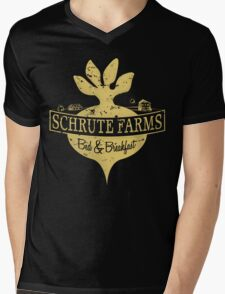 Schrute Farms B&B (no circles) Mens V-Neck T-Shirt