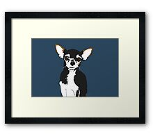Zoe the Chihuahua Cartoon Portrait Framed Print