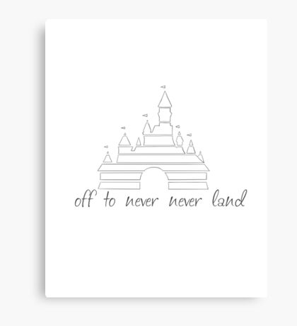 never never land Canvas Print