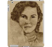 1930's Lady with Scarf iPad Case/Skin