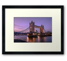 Tower Bridge at Sunset II, London, UK Framed Print
