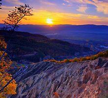 Sunset over Stob Pyramids, Bulgaria by Ivo Velinov
