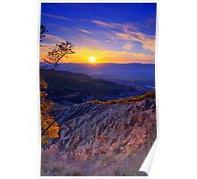 Sunset over Stob Pyramids, Bulgaria Poster