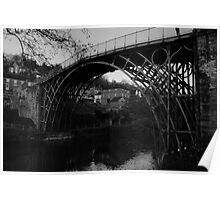 Iron Bridge B&W Poster
