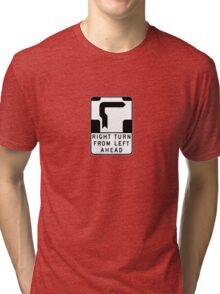 Hookturn - Small White Background Tri-blend T-Shirt
