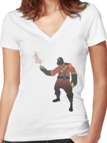 TF2 - RED Pyro / Pyrovision Women's Fitted V-Neck T-Shirt