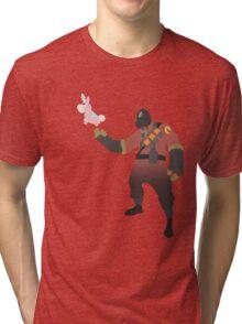 TF2 - RED Pyro / Pyrovision Tri-blend T-Shirt