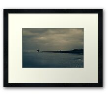 Surfer on Winter Beach Framed Print
