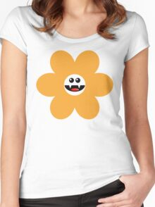 SAVAGE FLOWER YELLOW Women's Fitted Scoop T-Shirt