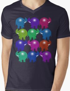 ELEPHANTS 3 Mens V-Neck T-Shirt