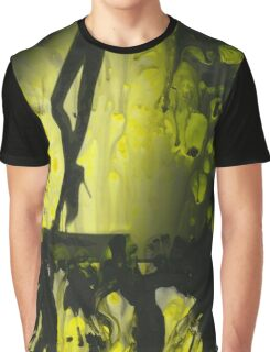 Yellow water color painted silver gelatin black and white print  of legs of female dancer analog film photo Graphic T-Shirt