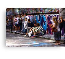 Graffiti 'gallery' Canvas Print