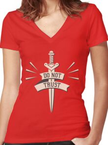 DO NOT TRUST Women's Fitted V-Neck T-Shirt