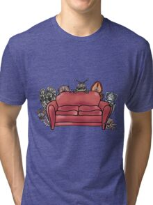Behind the sofa Tri-blend T-Shirt