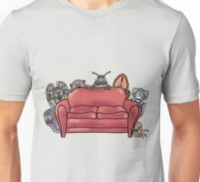 Behind the sofa Unisex T-Shirt