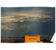 Mammatus display near Temora, N.S.W Poster