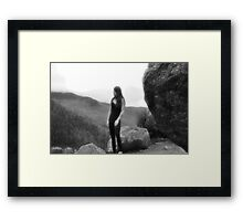Self Portrait, taken at Mountain Guide and Climbing School Framed Print