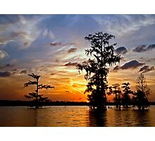 Last light on Lake Martin Photographic Print