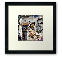graffiti girl Framed Print