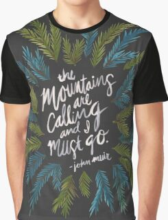 Mountains Calling – Charcoal Graphic T-Shirt