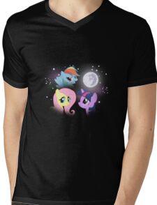 Three Pony Moon Mens V-Neck T-Shirt