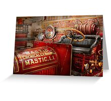 Fireman - Mastic chemical co Greeting Card