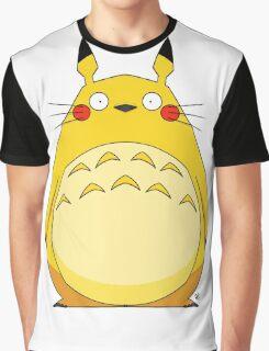 Totoro Pikachu Graphic T-Shirt