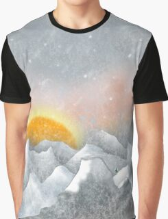 Alone in a Sunrise Snowstorm Graphic T-Shirt