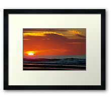 Sunrise On The Sea Framed Print