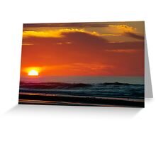 Sunrise On The Sea Greeting Card