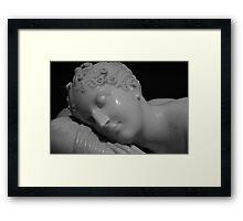 sleeping figure Framed Print