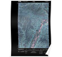 USGS Topo Map Washington State WA Palisades 20110425 TM Inverted Poster
