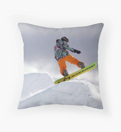 Skate Banana Throw Pillow