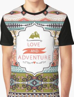Vector colorful decorative element on native ethnic style Graphic T-Shirt
