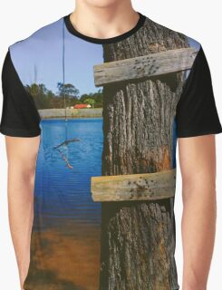Rope swing hanging from tree above lake Graphic T-Shirt