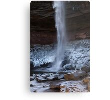 Catskills waterfalls upstate NY in winter time 1 Metal Print