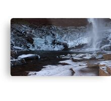 Catskills waterfalls upstate NY in winter time 2 Metal Print