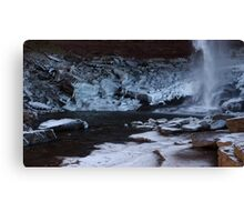 Catskills waterfalls upstate NY in winter time 2 Canvas Print