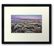 Pyramid Lake at Sundown #5 Framed Print